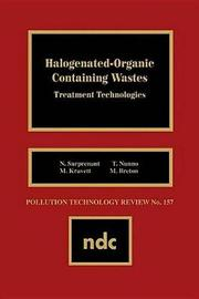 Halogenated-Organic Con- taining Waste by Gerard Meurant