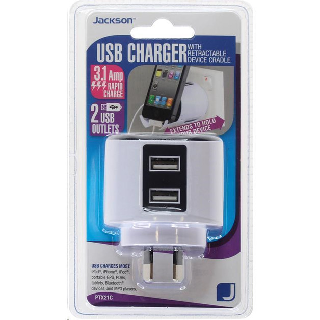 Jackson Pocket-Sized USB Charging Outlet (2x USB Charging Outlets)