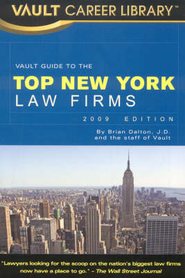 Vault Guide to the Top New York Law Firms by Brian Dalton image
