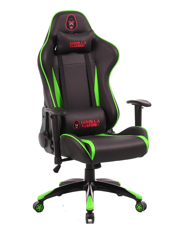 Gorilla Gaming Commander Chair - Green & Black for