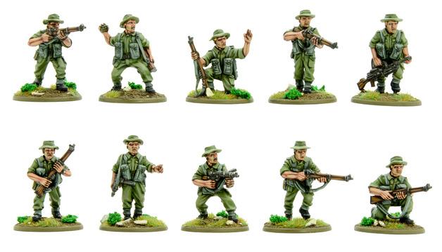 Bolt Action: Korean War British Infantry section (summer)