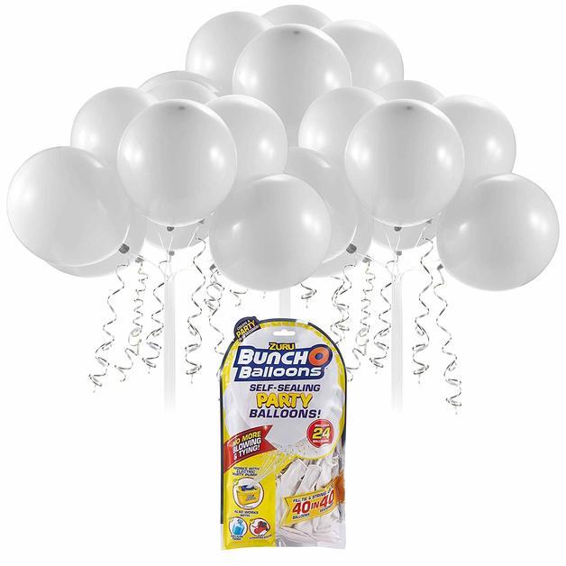 Bunch O' Balloons: Self Sealing Party Balloons - (24 x White)