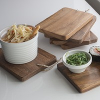 Set of 6 Mini Acacia Serving Boards (Rectangle)
