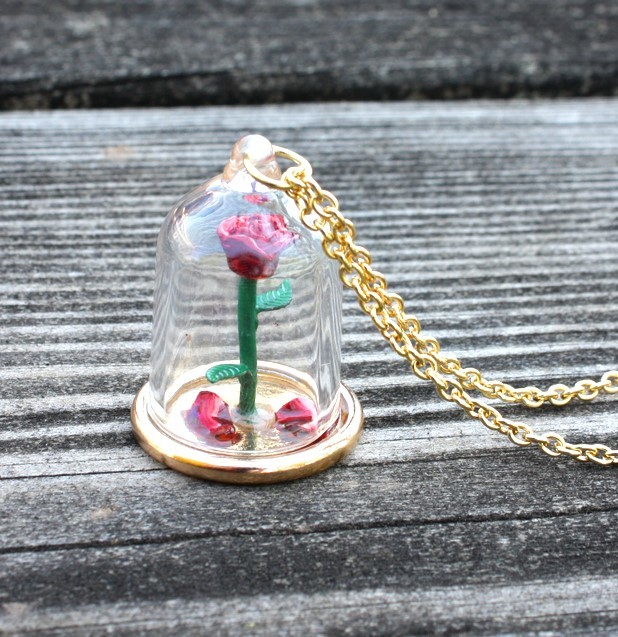 Neon Tuesday: Beauty & The Beast - Enchanted Rose Necklace image