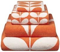 Orla Kiely Stem Jacquard Bath Sheet - Clementine