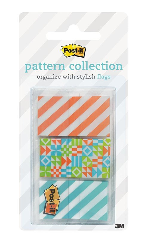 Post-it Flags Dispenser Pack - Geos Pattern (60 Pack)
