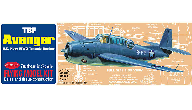 TBF Avenger 1/30 Balsa Model Kit image
