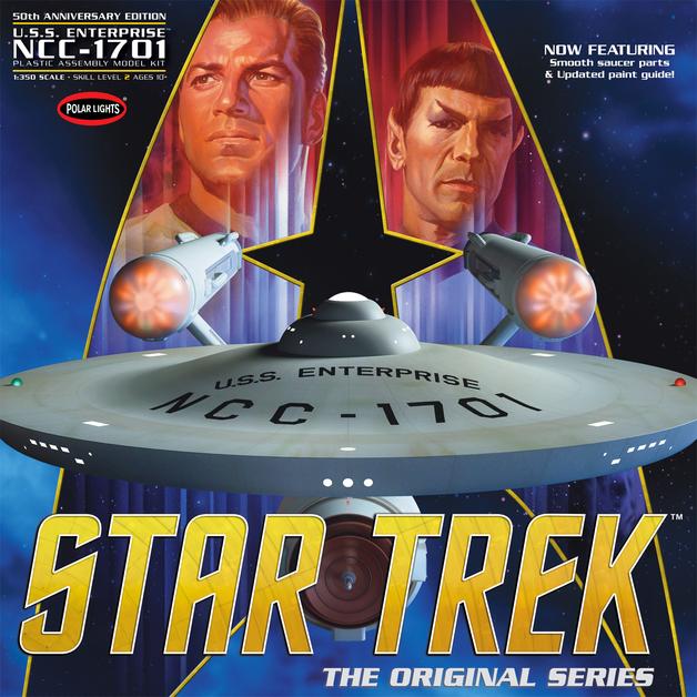 Polar Lights: 1/350 Star Trek TOS Enterprise 50th Anniversary Edition - Model Kit