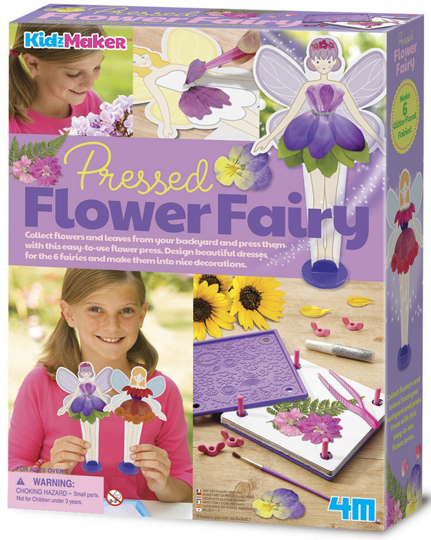 4M KidzMaker: Pressed Flower Fairy Craft Kit
