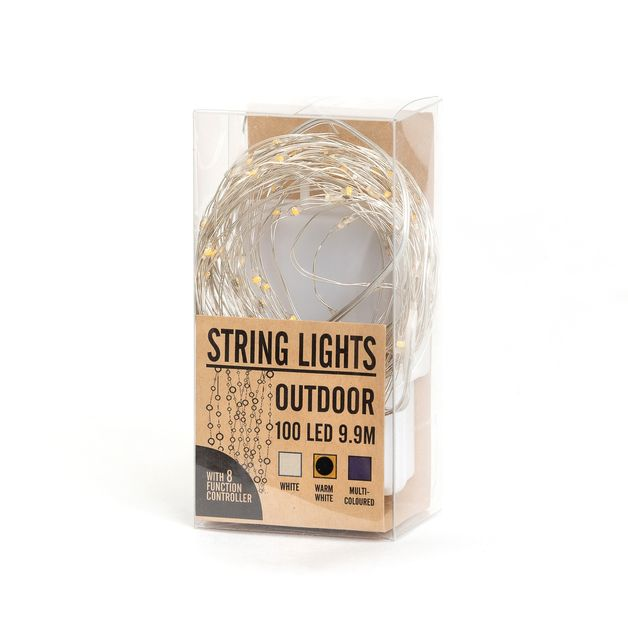 LED Outdoor String Lights - Multicoloured (10m)