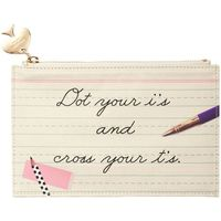 Kate Spade Pencil Pouch (Dot the I's)