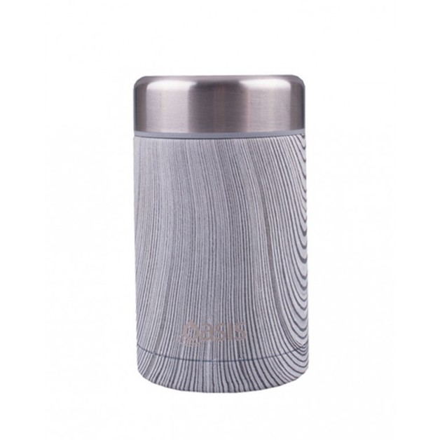 Oasis Stainless Steel Insulated Food Flask - Driftwood (450ml)