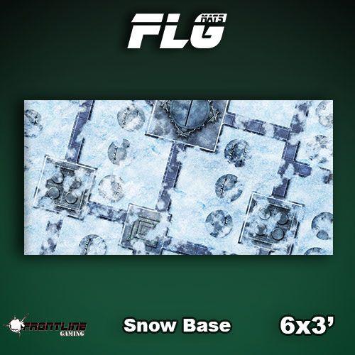FLG Snow Base Neoprene Gaming Mat (6x3)