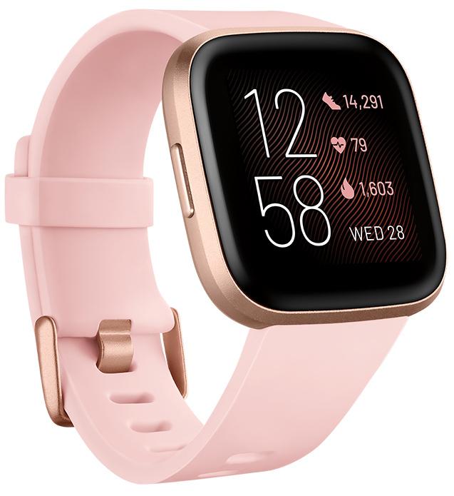 Fitbit Versa 2 Health & Fitness Smartwatch - Petal/Copper image