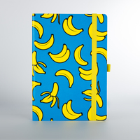 Mustard: Banana A5 Notebook - Cyan