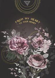 Papaya: My Heart Your Heart Foil Love Greeting Card