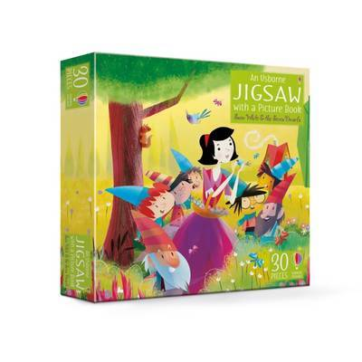 An Usborne Jigsaw with a Picture Book Snow White and the Seven Dwarfs by Lesley Sims image