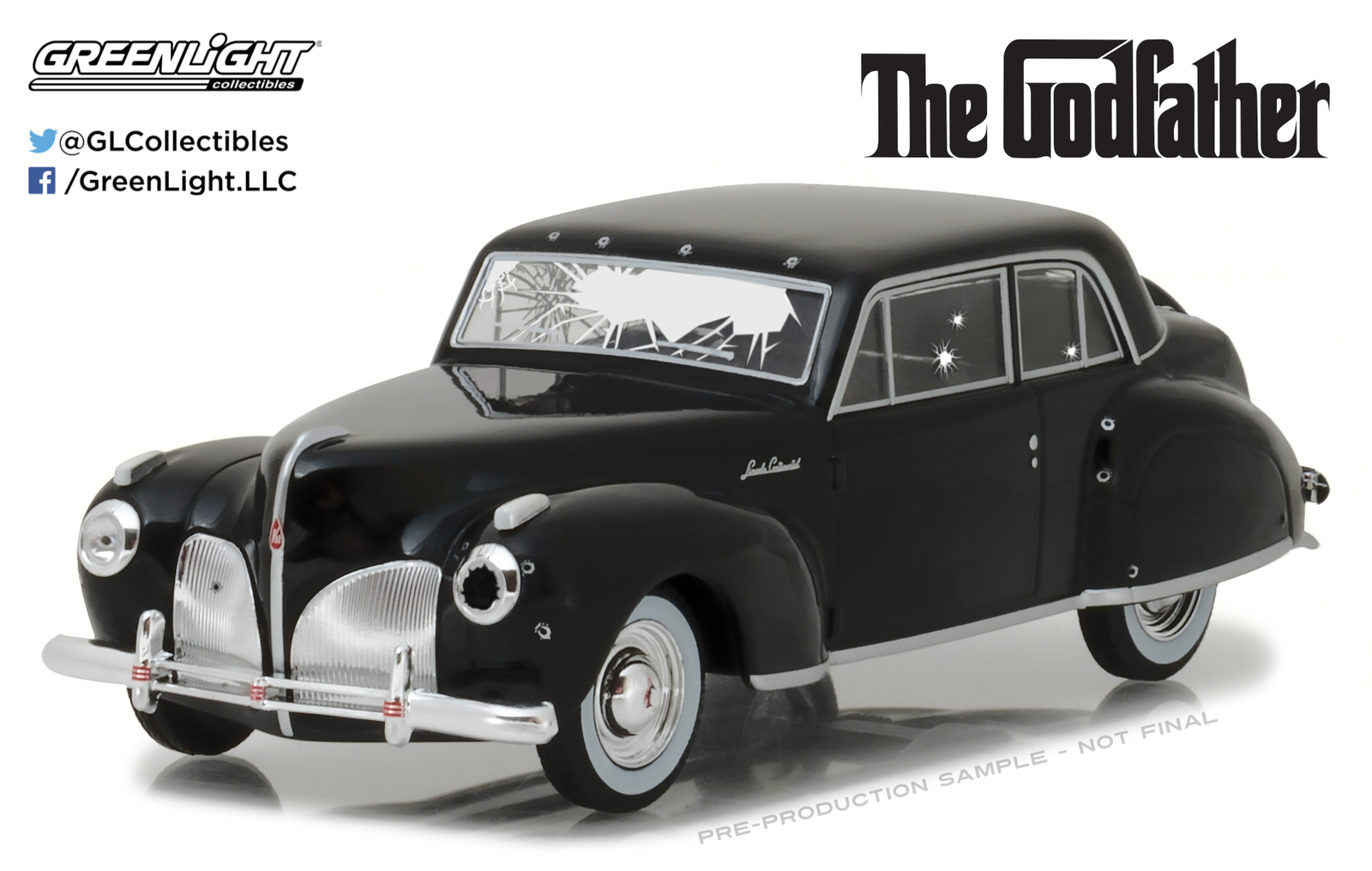 1/43: Lincoln Continental - Bullet Damaged - Diecast Model image