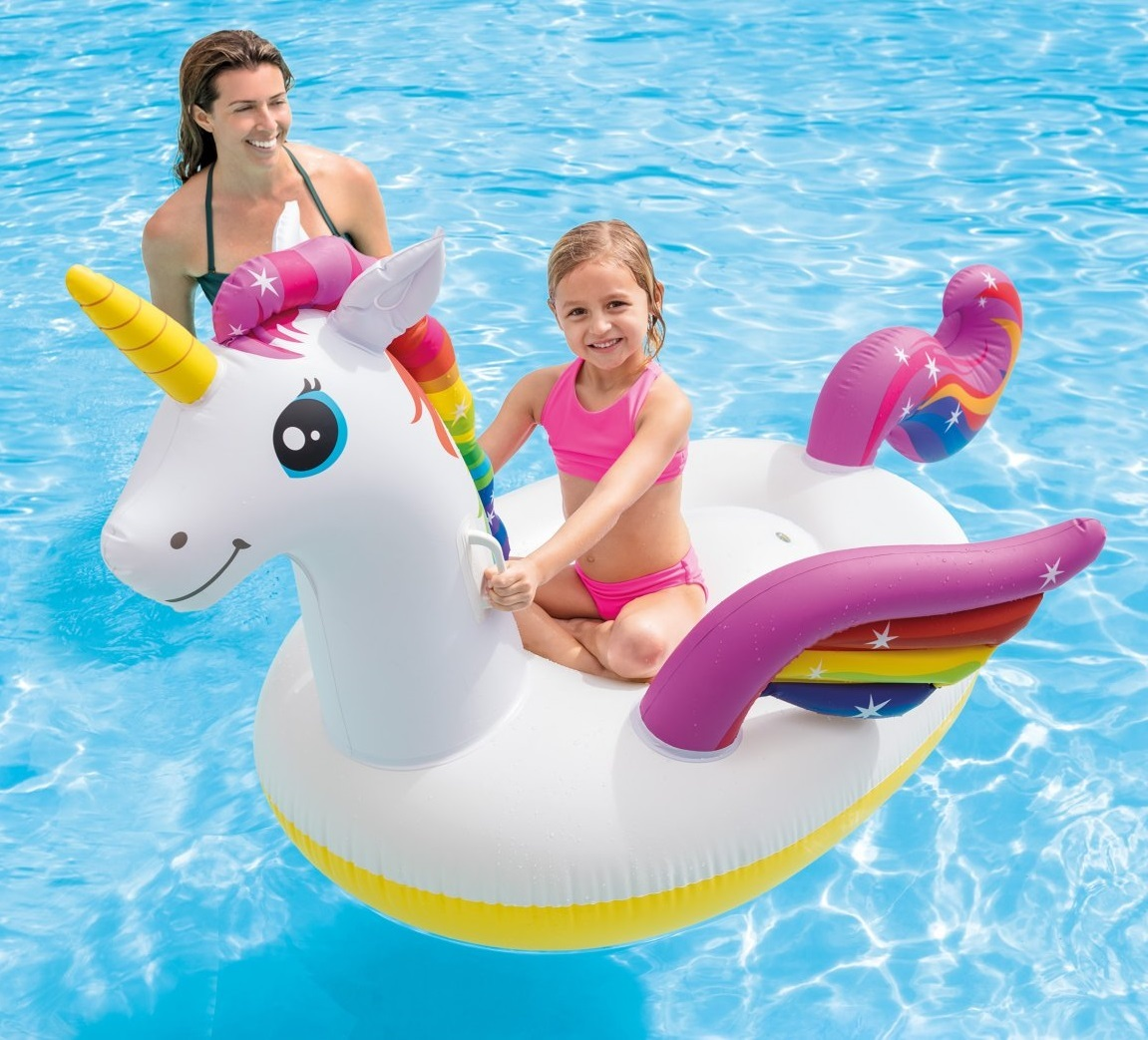 "Intex: Unicorn Ride-On - Inflatable Lounger (79"" x 55"") image"