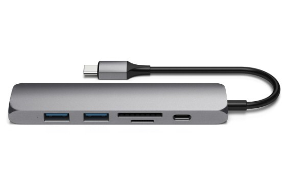 SATECHI: Slim USB-C MultiPort Adapter Version 2 - Space Grey image