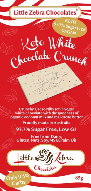 Little Zebra Chocolates: White Chocolate Crunch