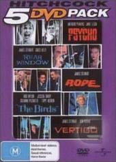 Hitchcock 5 DVD Pack (Psycho / Rear Window / Rope / Birds / Vertigo) (5 Disc Set) on DVD