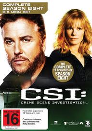 CSI - Las Vegas: Complete Season 8 (6 Disc Set) on DVD