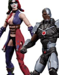 Injustice Gods Among Us: Cyborg vs Harley Quinn Action Figure Set