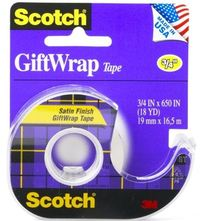 Scotch Giftwrap Tape 19mm x 16.5m
