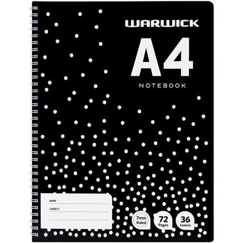 Warwick A4 36lf Ruled A4 Notebook