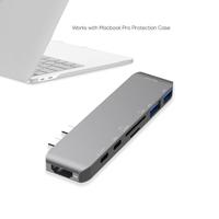 "mBeat ""Elite Mini"" USB-C Mini Dock with 4K HDMI, Thurderbolt 3, PD Charging and SD/TF Reader"