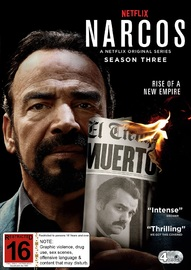 Narcos: Season 3 on DVD