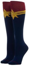 Marvel: Captain Marvel Suit Up Knee High Socks