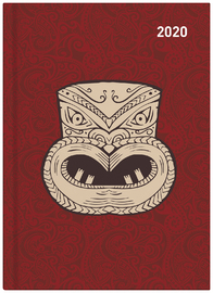 Collins: 2020 Daily A51 Diary - Maori Toanga (Red) image
