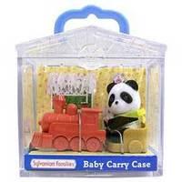 Sylvanian Families: Family Life Baby Carry Case - Panda Baby & Accessory