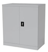 Proceed Steel Cupboard 2 Shelf - W900mm x D500mm x H1000mm (Stone Grey)