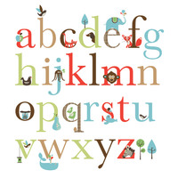 Skip Hop: Alphabet Zoo - Wall Decals