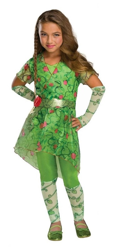 DC Super Hero Girls: Poison Ivy Girls' Deluxe Costume - (Size 9-12)