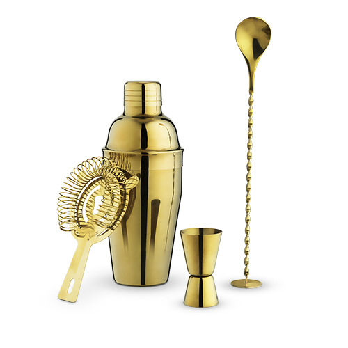 True: Stainless Steel - Barware Set (Gold)