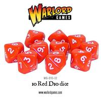 D10 Dice Pack - Red (10)