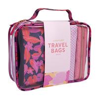 Sunnylife: Large Travel Bag Set - Wild Posy (Set of 4)