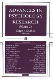 Advances in Psychology Research: Volume 29 image