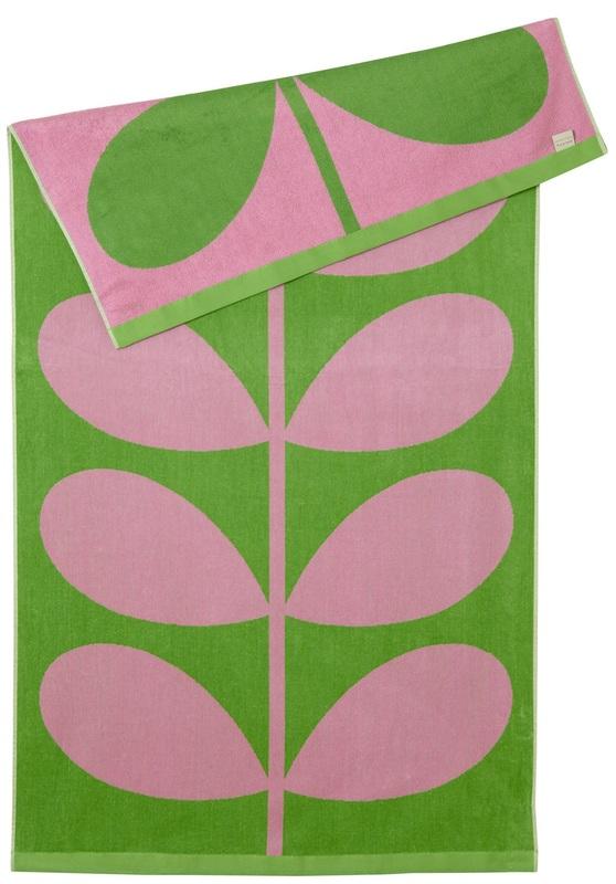 Orla Kiely Luxury Beach Towel - Lilac Pink Stem