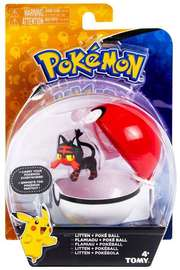 Pokémon: Litten & Poke Ball - Clip n Carry Set