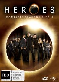 Heroes - Seasons 1-3 on DVD image