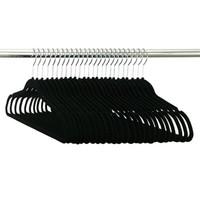Black Velvet Hanger (25 Pack)