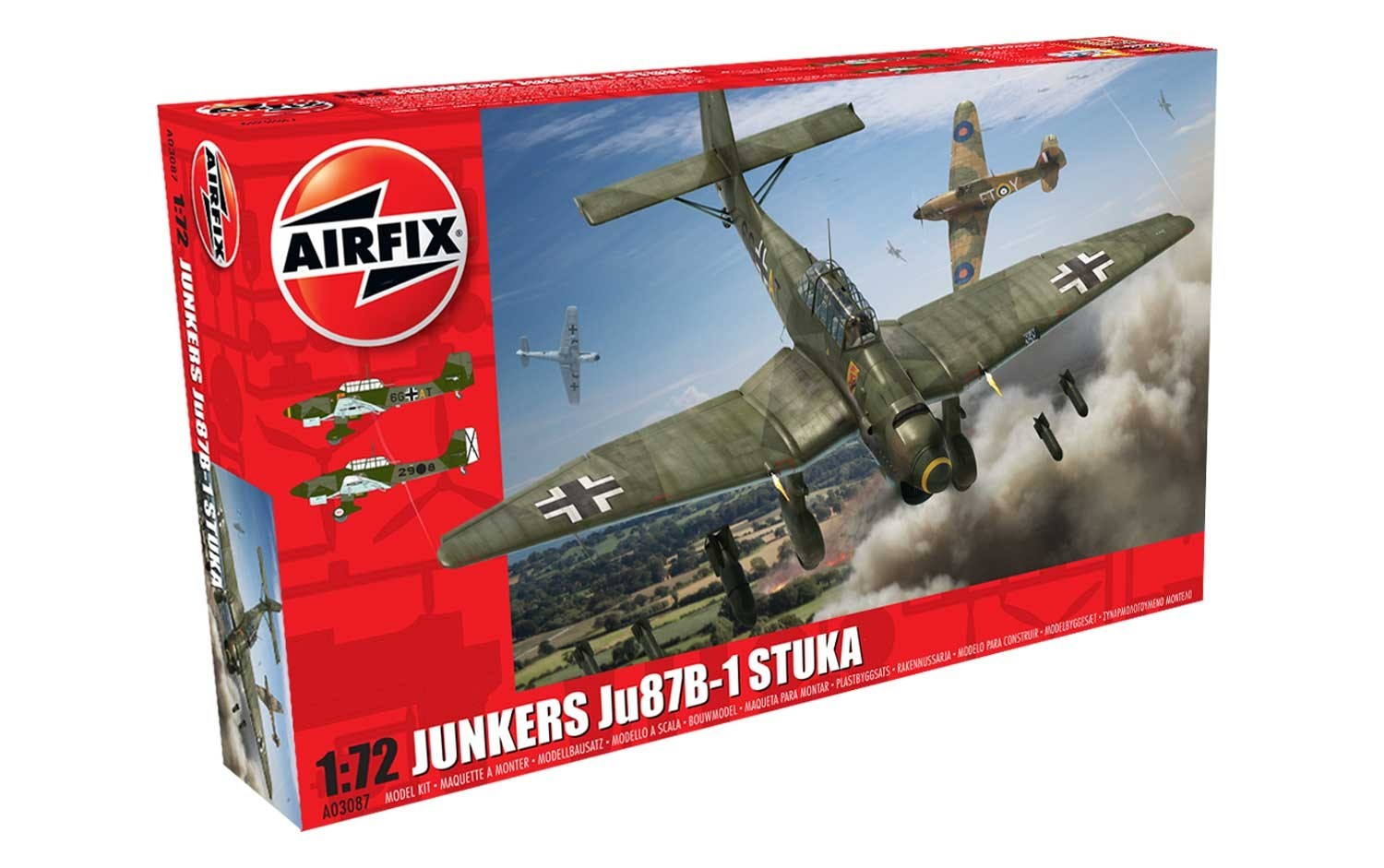 Airfix Junkers Ju87 B-1 Stuka 1:72 Scale Model Kit image