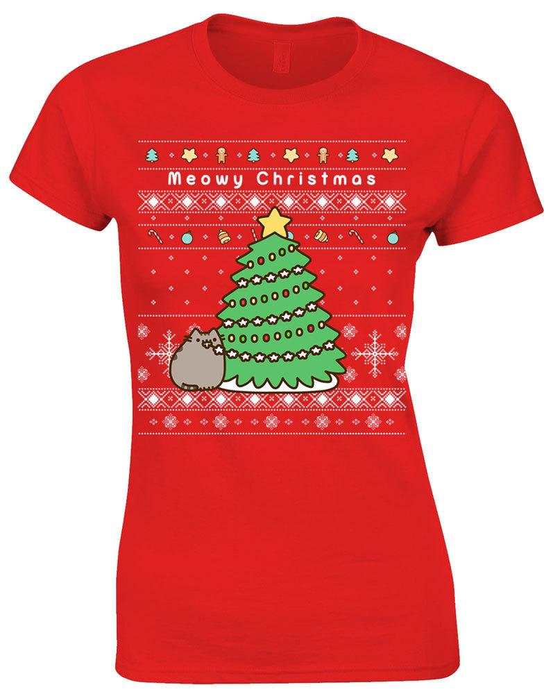 Pusheen Christmas.Pusheen Christmas Tree T Shirt Large