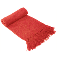 Bambury Boucle Throw Rug (Coral)