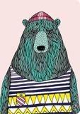 Putinki: Bear In Singlet - A5 Ruled Notebook